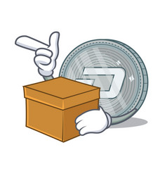 with box dash coin character cartoon vector image vector image