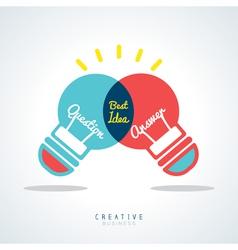 Best Idea Creative light bulb Concept vector image vector image