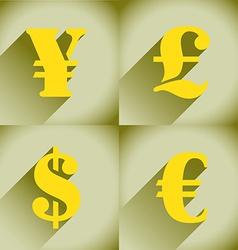 Euro Dollar Pound and Yen vector image vector image