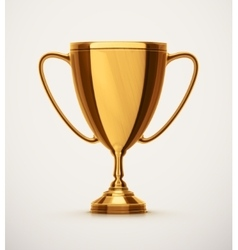 Isolated Gold Cup vector image