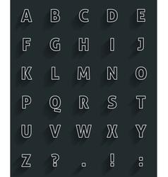 Long shadow alfabet vector image