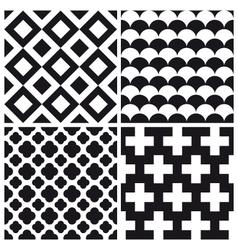set patterns 1 vector image vector image