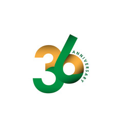 36 year anniversary template design vector