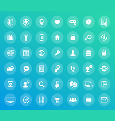 42 icons set for web design apps pack vector image