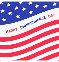 4th of July Happy independence day United states vector image