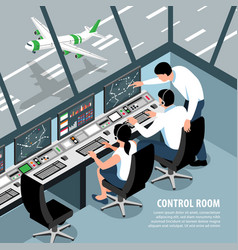 Air control room background vector