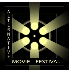 Alternative movie festival cinema film festival vector image
