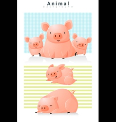 Animal background with Pigs 2 vector