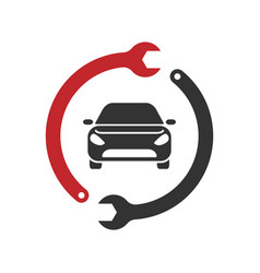 Auto repairing logo automotive and vector