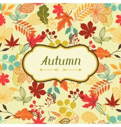 Background stylized autumn leaves for greeting vector