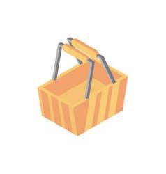 basket market online shopping isometric icon vector image