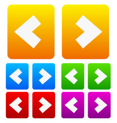bold arrows arrow icons buttons vector image