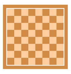Brown empty chess board top view chessboard tile vector