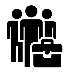 Business people group icon simple style vector