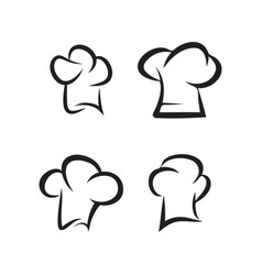 chef hat collection set graphic design template vector image