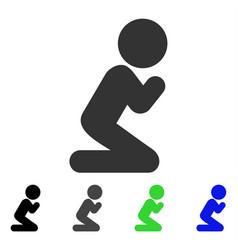 Child pray flat icon vector