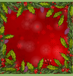 christmas frame with holy vector image
