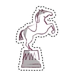 Circus horse entertainment icon vector