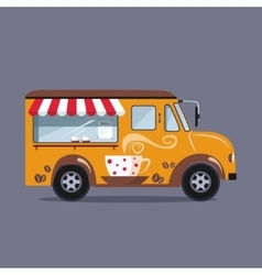 Coffee car on a white background vector