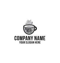 coffee mug glass logo designs inspiration vector image