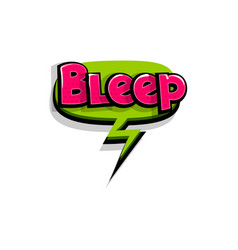 Comic text bleep beep logo sound effects vector