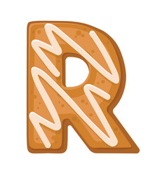 Cookies in shape letter r vector