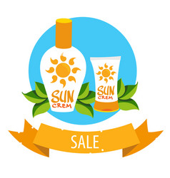 cosmetics for protecting the skin from the sun vector image