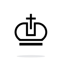 Crown Pope icon on white background vector