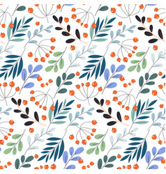 Cute pattern in small flower small colorful vector