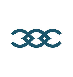 Double letter c and o or coc alphabet ornamental vector
