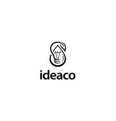 eco idea logo design concept vector image