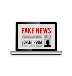 Fake news design concept with online newspaper in vector