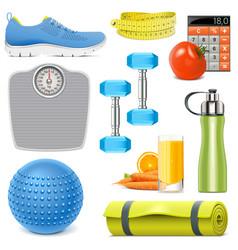 Fitness accessories vector