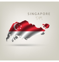 flag singapore as a country with a shadow vector image
