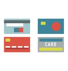 Flat money card isolated on white vector image