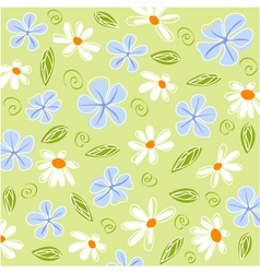 floral card and fabric texture vector image