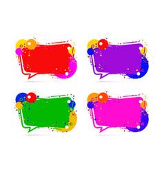 frame color set design on the white background vector image