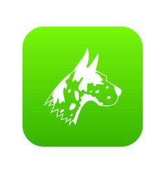 great dane dog icon digital green vector image