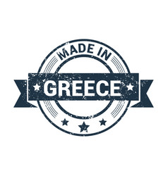 greece stamp design vector image