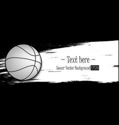 Hand drawn grunge banners with basketball vector