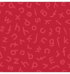 Hand Drawn Lowercase Letters Seamless Pattern Red vector image