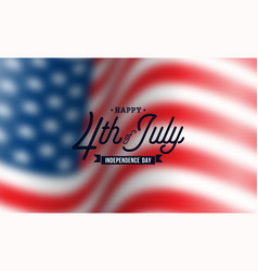 happy independence day usa vector image