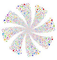 Heart fireworks swirl rotation vector