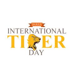 international tiger day poster design vector image