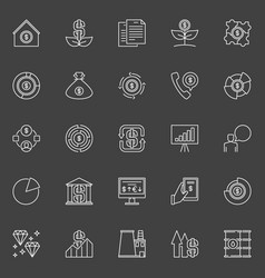 Investment icons vector