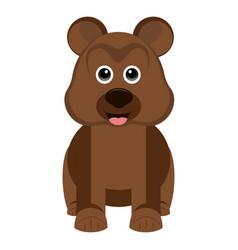 isolated cute bear vector image