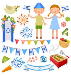 Israeli party vector image vector image