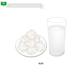 Kefir or Saudi Arabian Fermented Milk vector