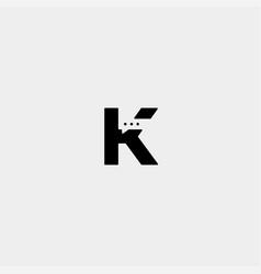 Letter k chat logo template design vector