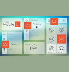 Light mobile user interface vector